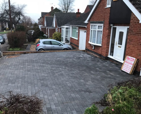 bloack paving driveway installation in Long Eaton