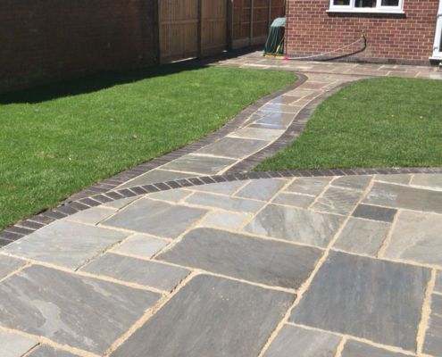 garden patio install in Bramcoat